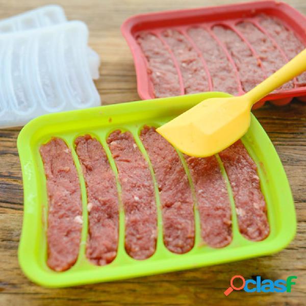 Molde de salsicha de silicone de grau alimentício diy hot dog ferramentas de pastelaria de cozimento caseiro hot dog maker