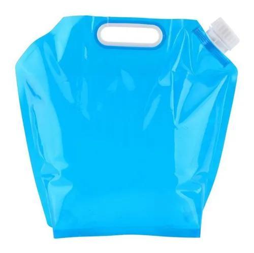 Azul 5l pe bolsa de água dobrável armazenamento de água