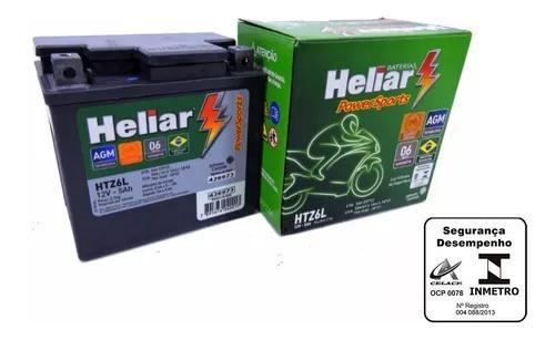 Bateria moto fazer 150 heliar htz6 yamaha 5ah