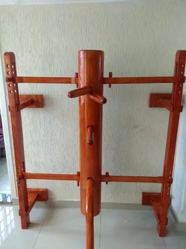 Boneco de madeira com suporte com 5 altura para parede
