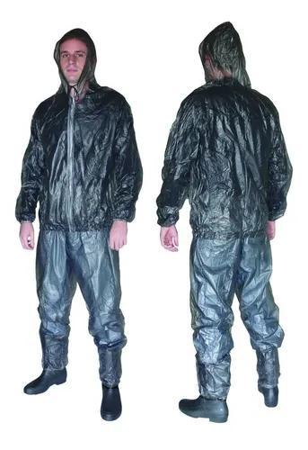 Capa chuva ciclista passeio camping maleável capuz selada