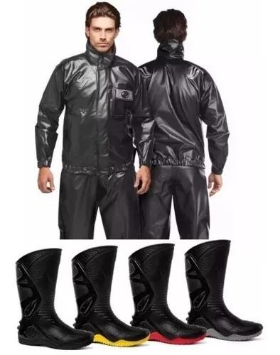 Capa de chuva alba europa + bota motosafe motoqueiro motoboy