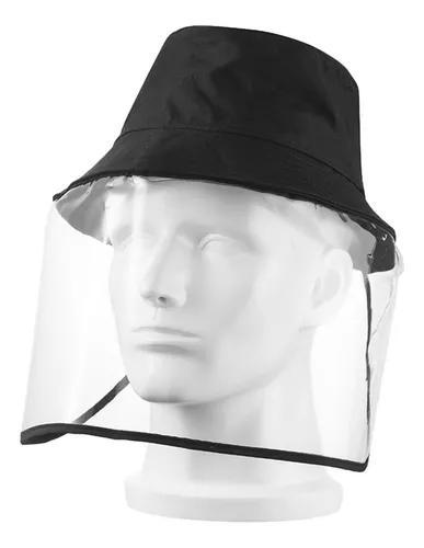 Chapéu de proteção solar com máscara transparente à pro