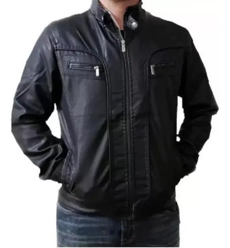 Jaqueta de couro motoqueiro impermeável executiva qualidade