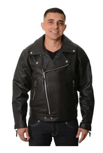 Jaqueta moto clássica couro legítimo + brinde