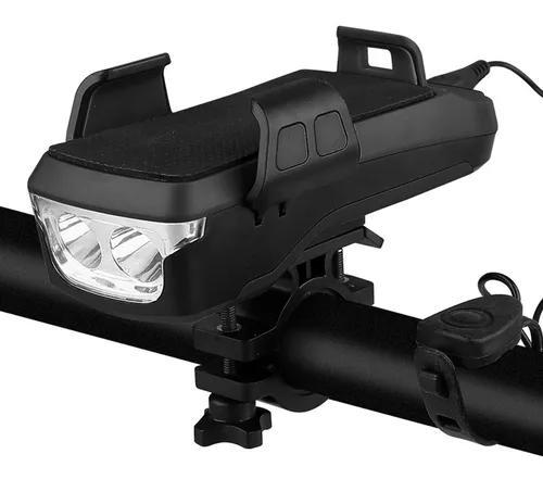 Multifuncional luz de bicicleta com suporte de telefone de b
