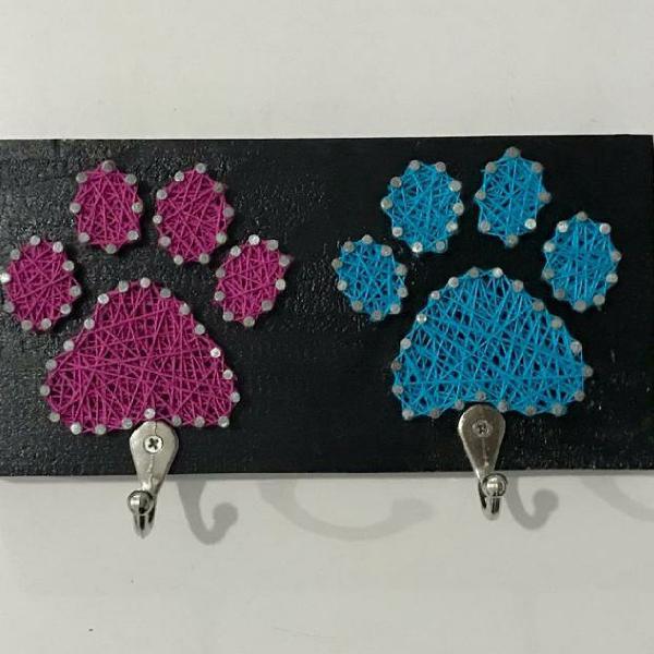 Porta coleira duplo pet cachorro gato