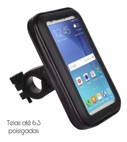 Suporte case capa celular à prova d'água gps p/ moto bike