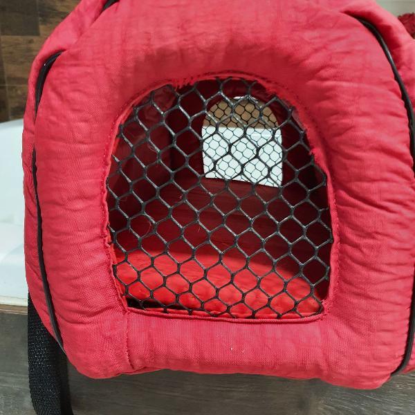Transporte para gatos e outros animais de pequeno porte.