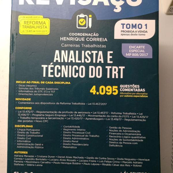 Revisaço trt - analista e técnico