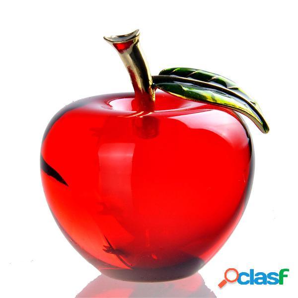 Presente de natal de decorações de casa de papel de cristal apple paperweight exclusivo
