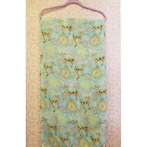 Maxi lenço alces azul