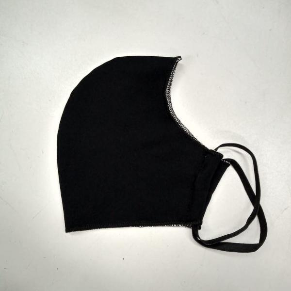 Máscara ninja preta de lycra (masculina)