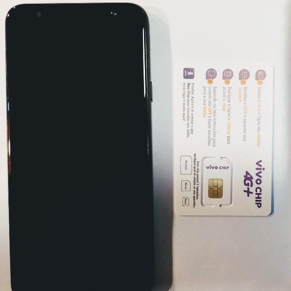 "Smartphone galaxy j4 core preto 16gb tela 6"" 1gb ram"