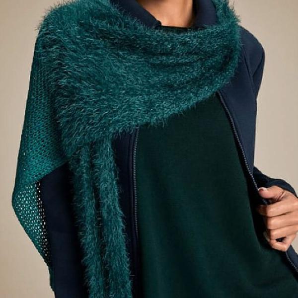 Cachecol tricot muito macio