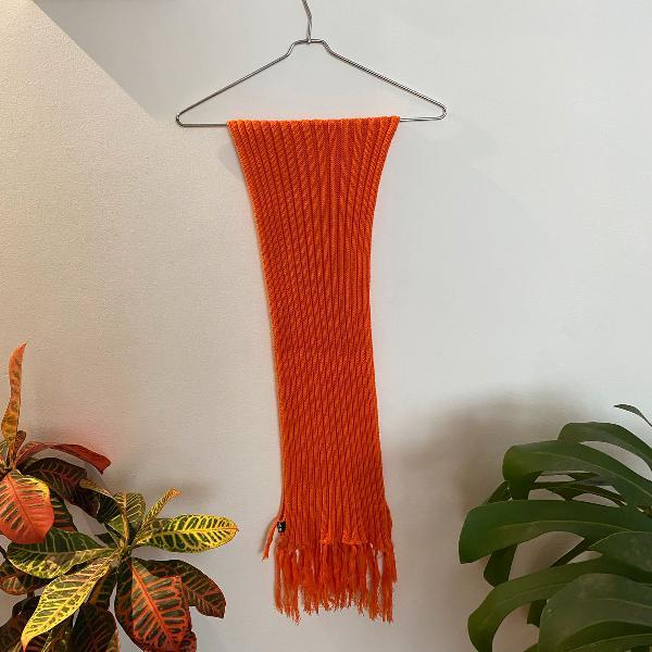 cachecol laranja tricot canelado campos do jordão fondue