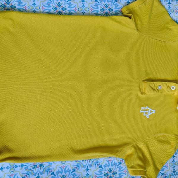 Camisa polo abercrombie & fitch na cor amarelo muscle