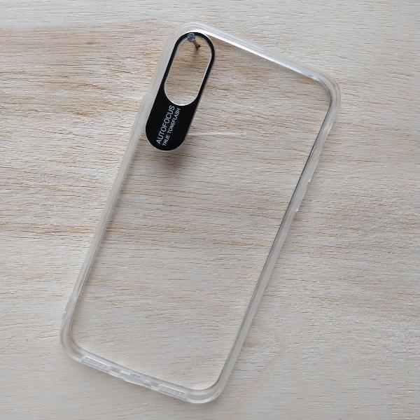 Capinha case transparente iphone x e xs +película brinde