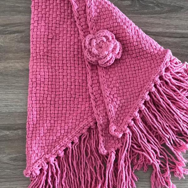 Echarpe- canga rosa