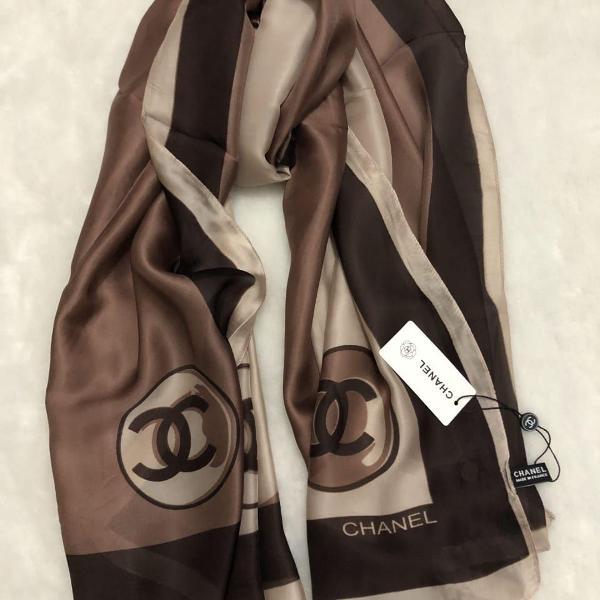 Echarpe lenço seda , 5 cores disponíveis