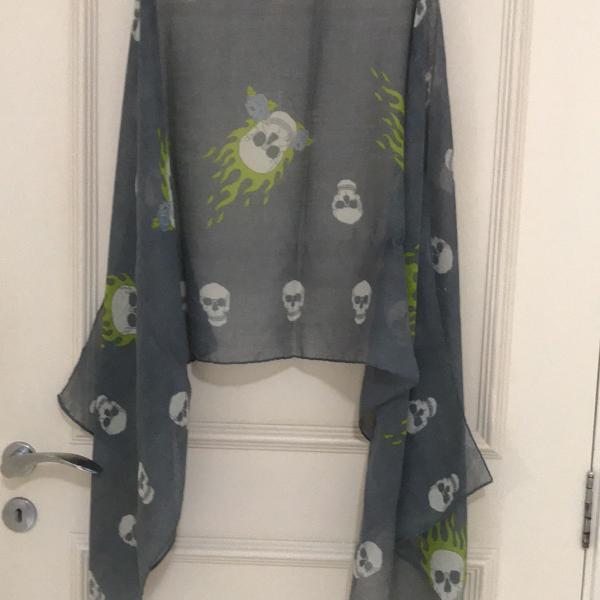 Echarpe/lenço cinza