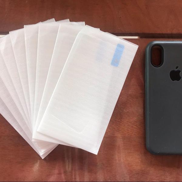 Kit capinha de iphone com película de vidro