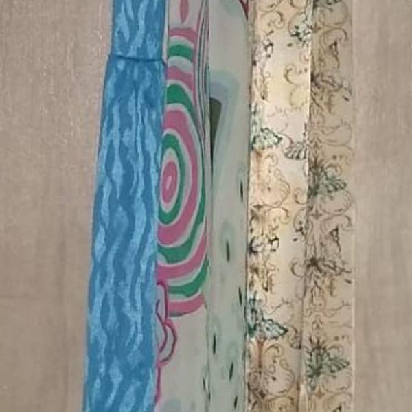 Kit de lenços skinny (gravatas) femininos de seda