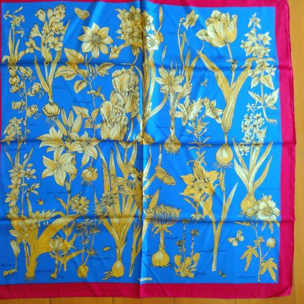 Lenço gucci seda pura original 90x90 cm