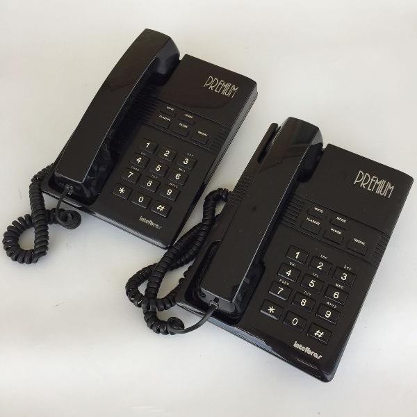 Lote kit 2 telefone com intelbras premium preto