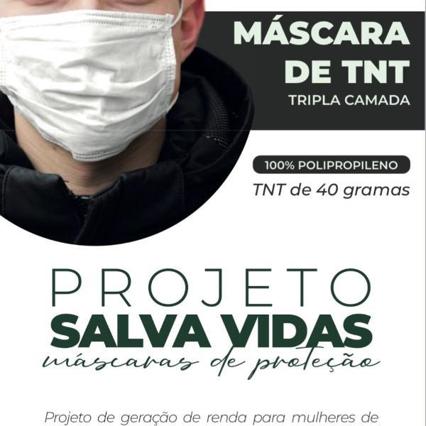 máscara de proteção de tnt