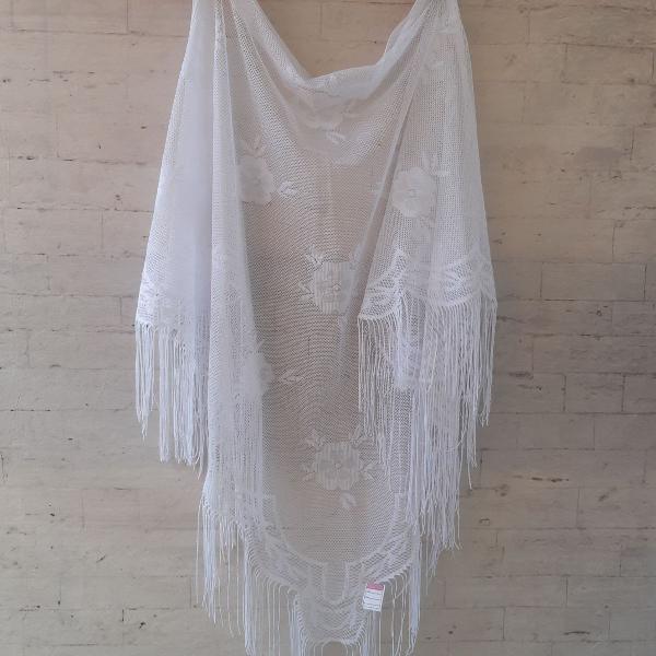 Xalé rendado branco ( vintage)