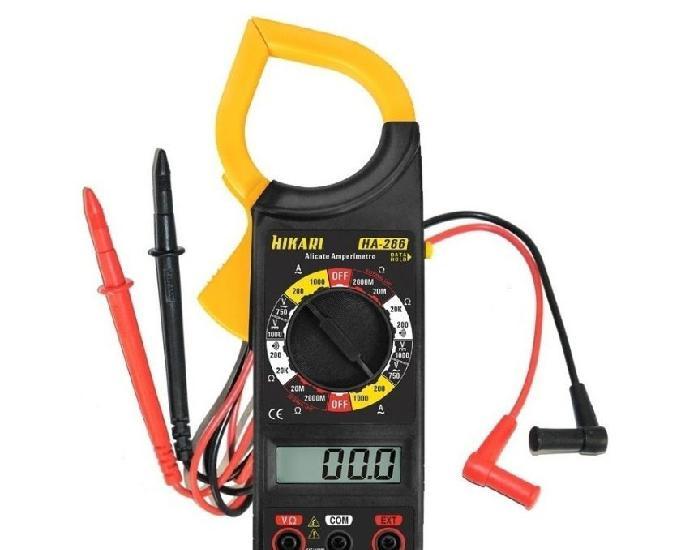 Alicate amperímetro e multímetro 266 com bolsa