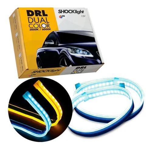 Fita barra led 30 cm dual color shocklight carro moto tuning
