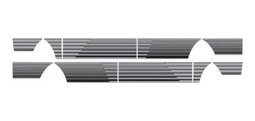 Kit adesivo faixa lateral ford pampa 94 prata