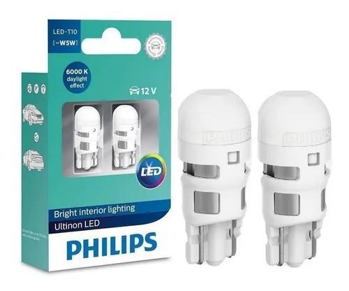 Lampada philips t10 ultinon pingo led 6k w5w superbranca par