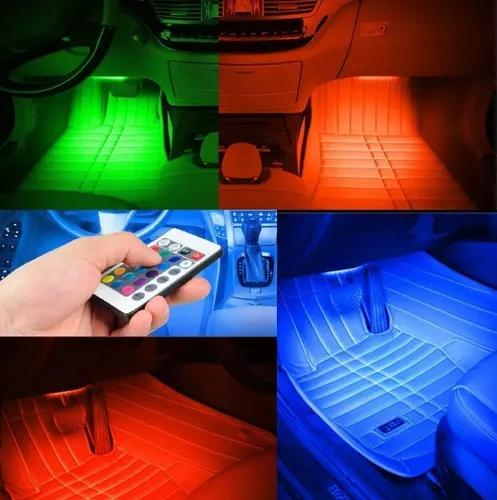 Led neon rgb interior carro tuning automotivo luz led