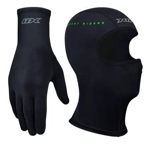 Luva thermic touchscreen segunda pele x11 motoqueiro + touca