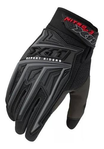 Luva x11 nitro 3 para bicicleta motocross bike moto preta