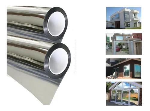Película adesiva prata espelhado vidro 3m x 1,50m + brinde