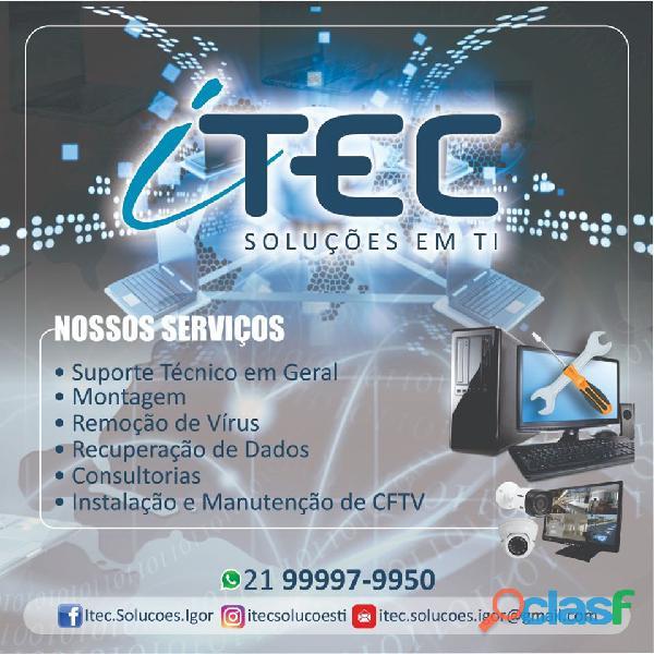 Técnico de informatica | técnico de redes de computadores | câmeras de segurança