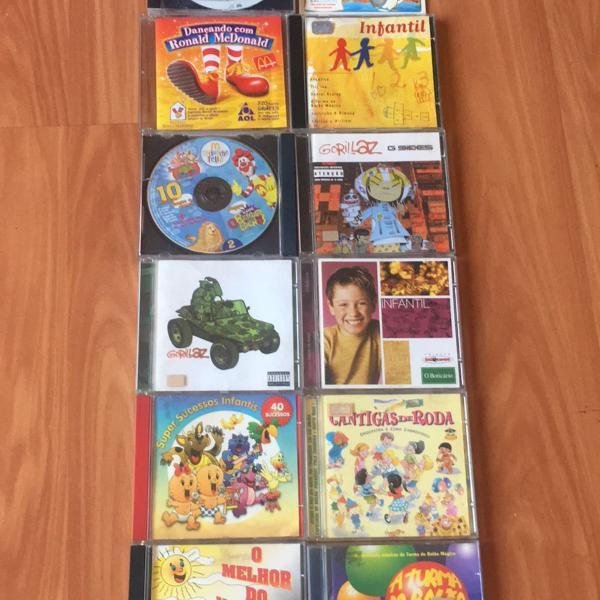 12 cds infantis incluindo cds com sucessos infantis