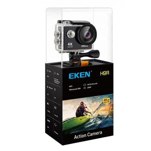 Câmera eken h9r 4k ultra hd preta + acessórios