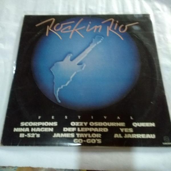 Lp rock in rio, disco de vinil rock in rio