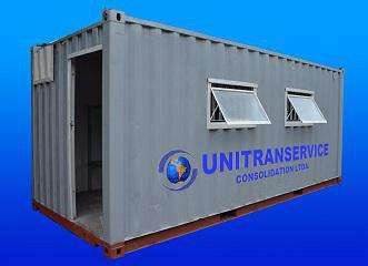 Locação e vendas de containers marítimos adaptados para