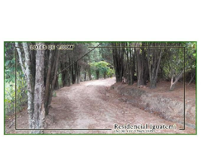 Terrenos à venda em mairinque 1h de sp residencial iguatemi