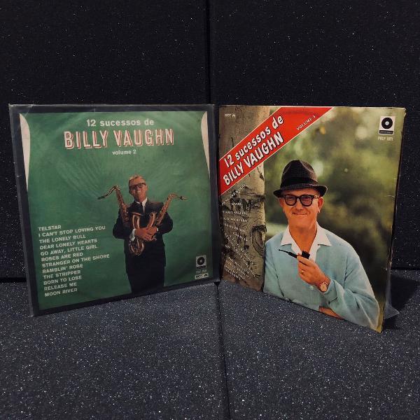 Billy vaughn | 2 disco vinyl lp | 12 sucessos vol.2 e 3