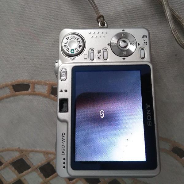 Câmera digital sony cybershot 7.2 megapixels dsc-w70 em