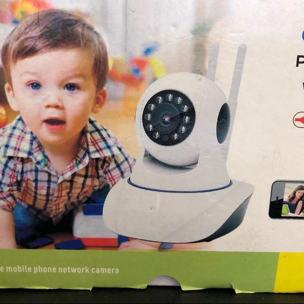 Câmera ip p2p hd wi-fi. support 1 way h.264 vídeo stream