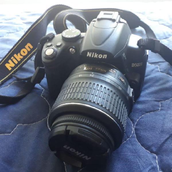 Câmera nikon d5000 + 2 lentes e bolsa