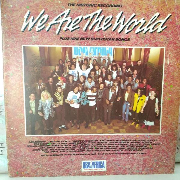 Disco lp original we are the world usa for africa 1985